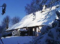 Jystrups ældste hus - sneklædt