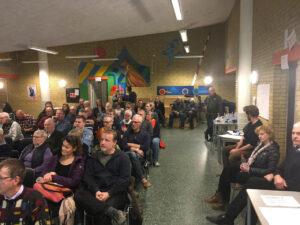 Borgermødet om det nye aktivitets- og naturhus i Vrangeskov tiltrak udover pressen også over 50 aktive borgere, der bidrog med mange gode idéer og forslag.